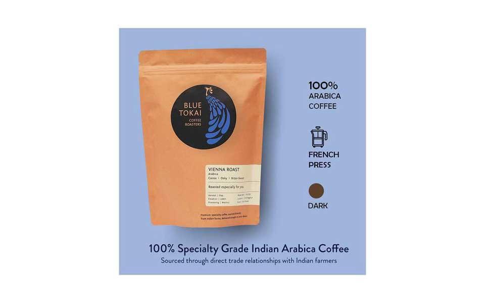 Blue Tokai Vienna Roast - ارسال عمده دانه قهوه هند