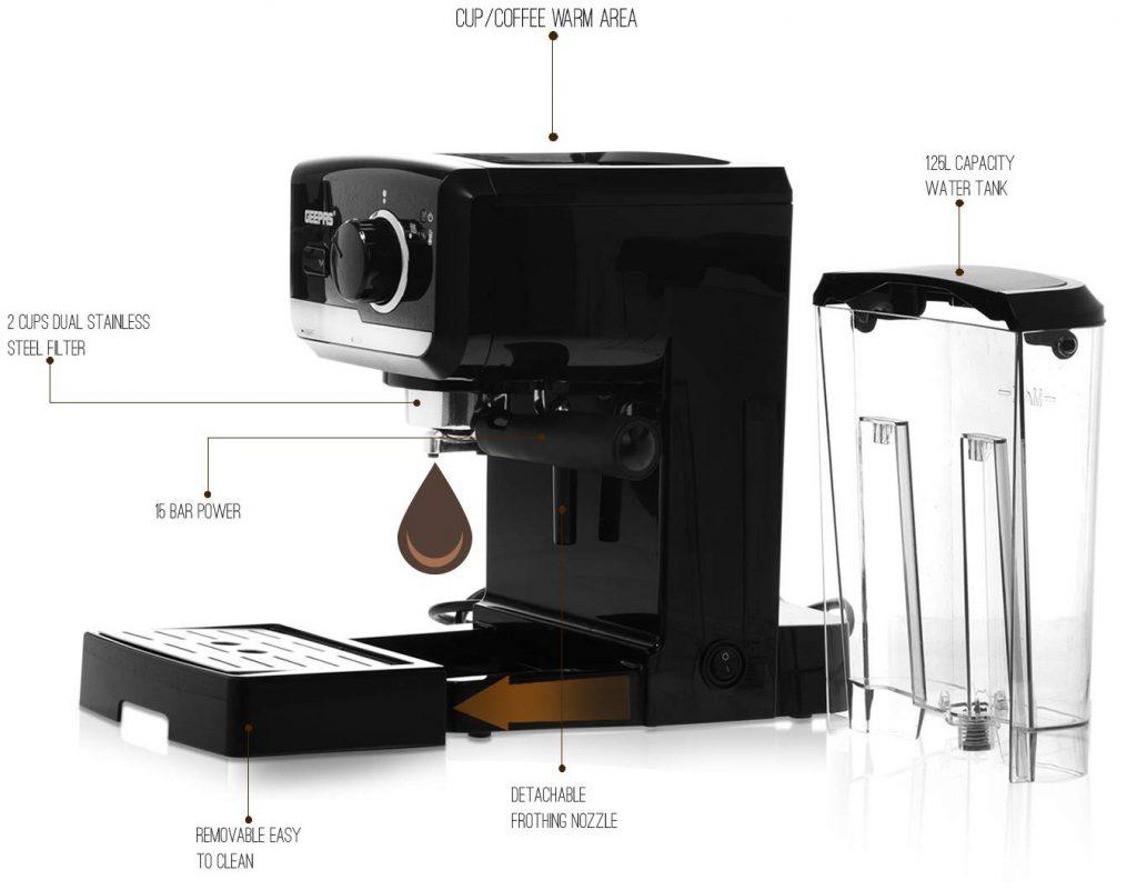اسپرسو ساز جی پاس مدل GCM41507 - دستگاه قهوه ساز